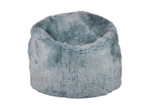 Amazing Duck Egg Blue Luxury Sheepskin Beanbag Large Long Wool Luxe Squirreltailoven Fun Painted Chair Ideas Images Squirreltailovenorg