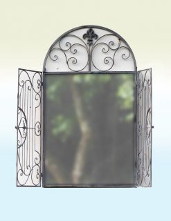 MIR002 Outdoor Garden Cromwell Road Weather Resistant Mirror Gated 61x103cm | Avant Garden Guernsey