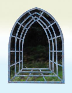MIR004 Outdoor Garden Mirror Tottenham Weather Resistant Mirror Terrace 60x81cm | Ant Blue | Avant Garden