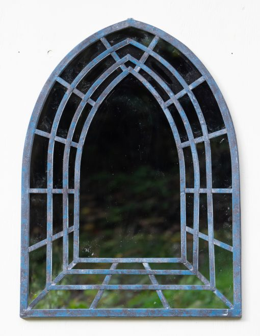 MIR004 Outdoor Garden Mirror Tottenham Weather Resistant Mirror Terrace 60x81cm Ant Blue | Avant Garden