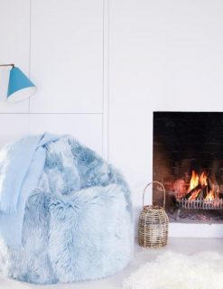 Owen Barry Interiors Sheepskin Beanbag Duck Egg Blue Large Lux | Avant Garden Guernsey