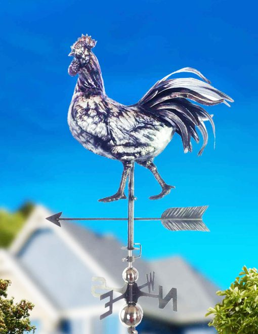 PY0667 3D Weathervane Rooster Stainless Steel | Avant Garden Guernsey