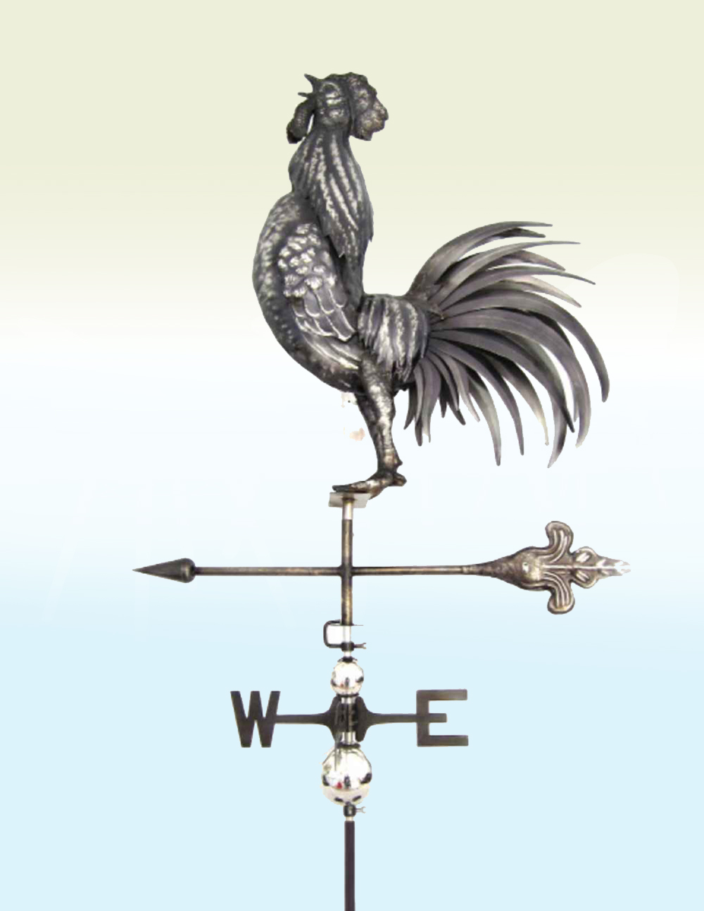 PY0810 Weathervane 3D Stainless Steel Cockrel Crowing | Avant Garden Guernsey
