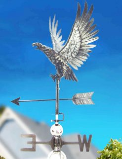 PY0820 3D Weathervane Eagle Wingspread Stainless Steel | Avant Garden Guernsey