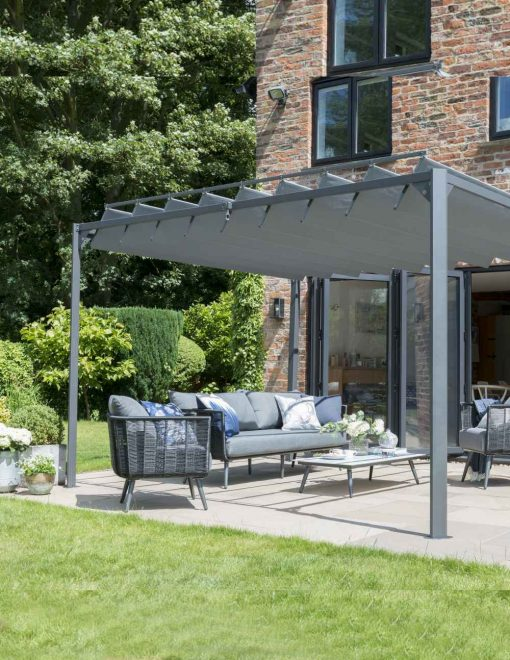 84910 Lexington Folding  Leaf Pergola Gazebo (3) | Avant Garden Guernsey