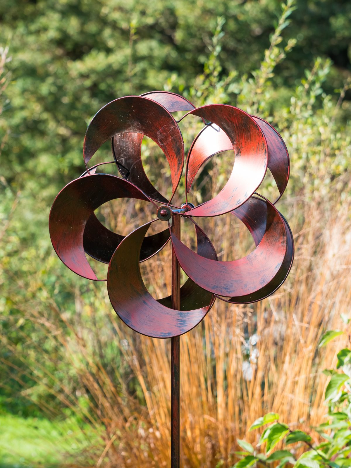 SP435 Bladesbury Brurnished Bronze Garden Wind Sculpture | Avant Garden Guernsey