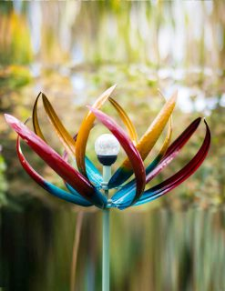 SP450 Wispy Willow Solar Flower Garden Wind Sculpture 1 | Avant Garden
