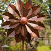 SP477 Dahlia Bloom Burnished Gold Garden Wind Sculpture 1 | Avant Garden