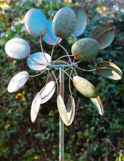 SP460 Honesty Bloom Verdigris Garden Wind Sculpture 1 | Avant Garden