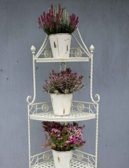 CR11 Moselle Matt Cream Four Tier Corner Unit | Avant Garden Guernsey