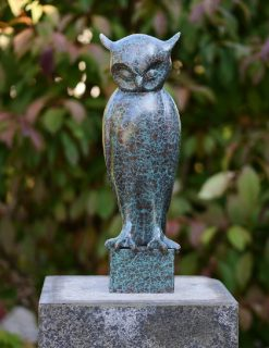 BI 75 Solid Bronze Sculpture Owl Perched 41x12x13cm 1 | Avant Garden