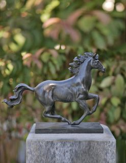 HO 26 Solid Bronze Horse Galloping Sculpture 30x38cm | Avant Garden