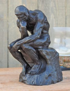 FIME 13 Solid Bronze Sculpture Rodins The Thinker 27cm 1 | Avant Garden