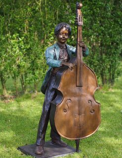 FIBO 41 Solid Bronze Cellist Boy Sculpture 1 | Avant Garden