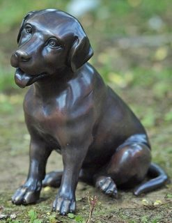 DO 17 Bronze Sculpture Dog Friendly Spaniel 24cm | Avant Garden Guernsey