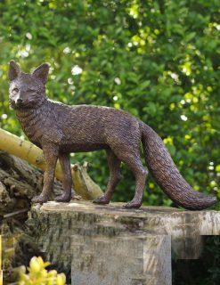 WI 70 Solid Bronze Fox Sculpture 38x15x54cm 1 | Avant Garden