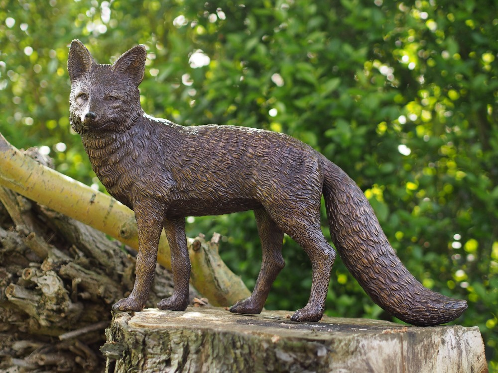 WI 70 Countryside Fox Fine Cast Solid Bronze Fox Sculpture 1 | Avant Garden
