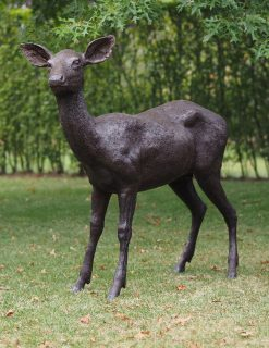 WI 73 Solid Bronze Pretty Doe Sculpture 117x30x124cm 1 | Avant Garden