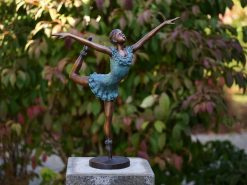 FIBA 26 Solid Bronze Ballet Dancer Sculpture 54x15x43cm 1 | Avant Garden