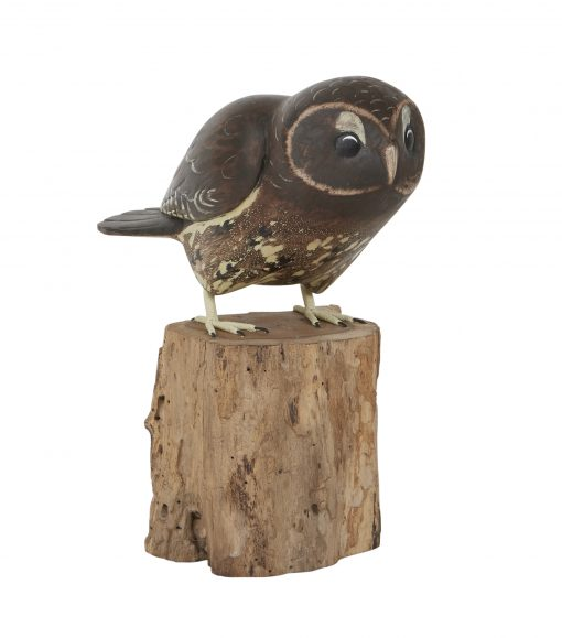 D404 Tawny Owl Taking Off Archipelago Bird Hand Carved Sculpture 1 | Avant Garden