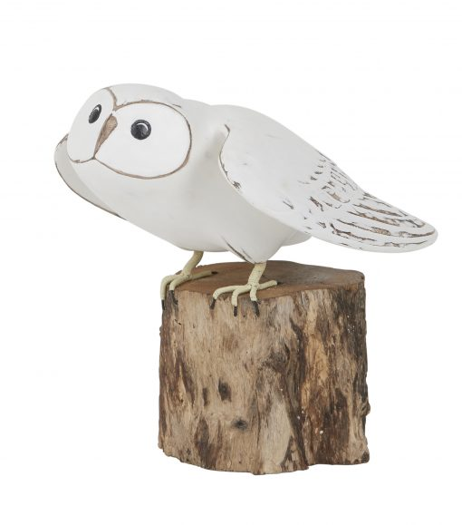 D405 Barn Owl Taking Off Archipelago Bird Hand Carved Wooden Sculpture 1 | Avant Garden