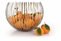 ECBC Chic Encore Display Fruit Basket Round Stainless Steel 1 | Avant Garden