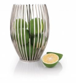 ECBO Chic Encore Oval Fruit Bowl Stainless Steel 1 | Avant Garden