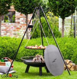 CookKing Porto Fire Bowl inc Lid & Grill on Tripod 1 | Avant Garden