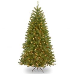 NRV7-348LB Bayern Spruce Pine Artificial Christmas Tree Hinged Pre Lit 1 | Avant Garden