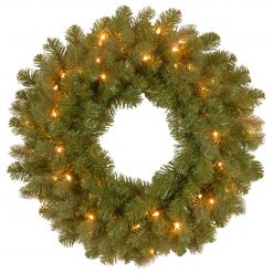 "PEBY1-376-24W-B Forestry Fir Pre Lit 20"" Artificial Christmas Wreath Pre Lit 1 