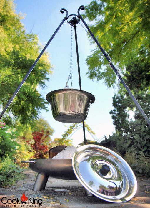 CookKing Stainless steel in tripod with fire bowl Bali 2 | Avant Garden