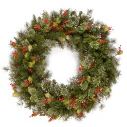 "WP3-10-24W Woodland 24"" Wintery Fir Artificial Christmas Wreath 1 