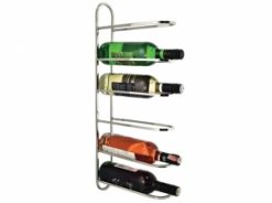 Wine Rail 6 Wall Mountable Wine Rack Stainless Steel 1 | Avant garden