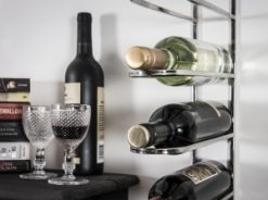 Wine Rail 9 Wall Mounted Wine Rack Stainless Steel 1 | Avant Garden