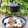 CookKing enameled pot in tripod with fire bowl bali 3 | Avant Garden