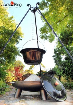 CookKing Enammelled Goulash Pot on 180cm Tripod & Bali Fire Bowl 1 | Avant Garden