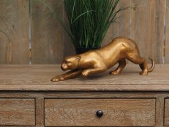 WI 74 Solid Bronze Panther Stalking Sculpture Modern Finish 1 | Avant Garden