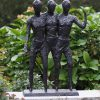 FIME 33 Solid Bronze Best Friends Sculpture 73x16x50cm 1 | Avant Garden