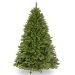 WCH7-500-75 Bavarian 7' Unlit Spruce Fir w Natural Cones Artificial Christmas Tree Hinged 1 | Avant Garden