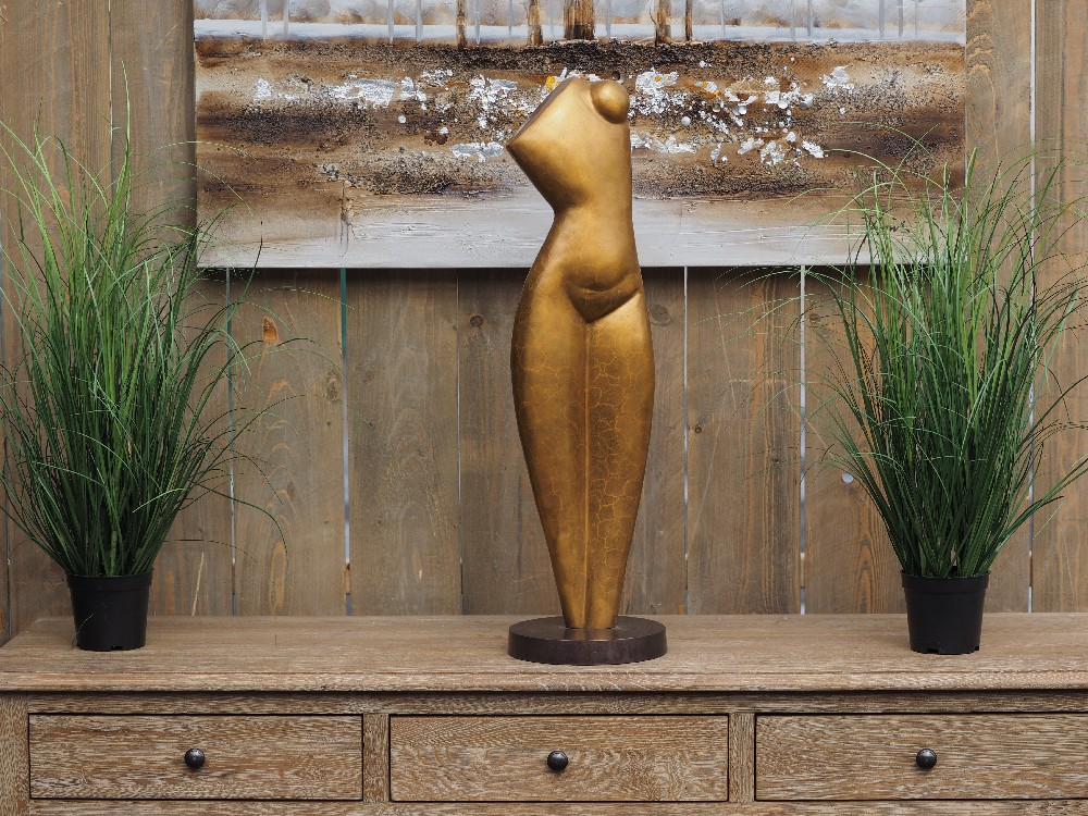 MO 45 Solid Bronze Abstract Bust Modern Sculpture 1 | Avant Garden