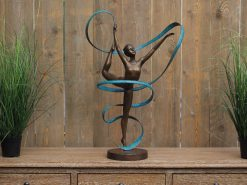 FIBA 31 Solid Bronze Ribbon Dancer Sculpture 69cm 1 | Avant Garden