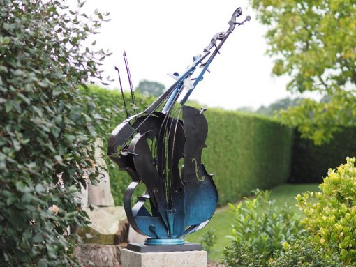 MO 49 Solid Bronze Cello Art Sculpture 149x88x28cm 1 | Avant Garden