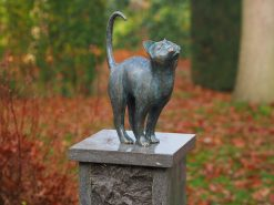 CA 16 Fine Cast Solid Bronze Sculpture Cat Puurfect 1 | Avant Garden