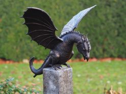 WI 79 Solid Bronze Dragon Fountain Sculpture Water Feature 60 x 58 x 35cm 1 | Avant Garden