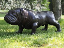 DO 21 Bulldog Studded Collar Solid Bronze Sculpture 1 | Avant Garden