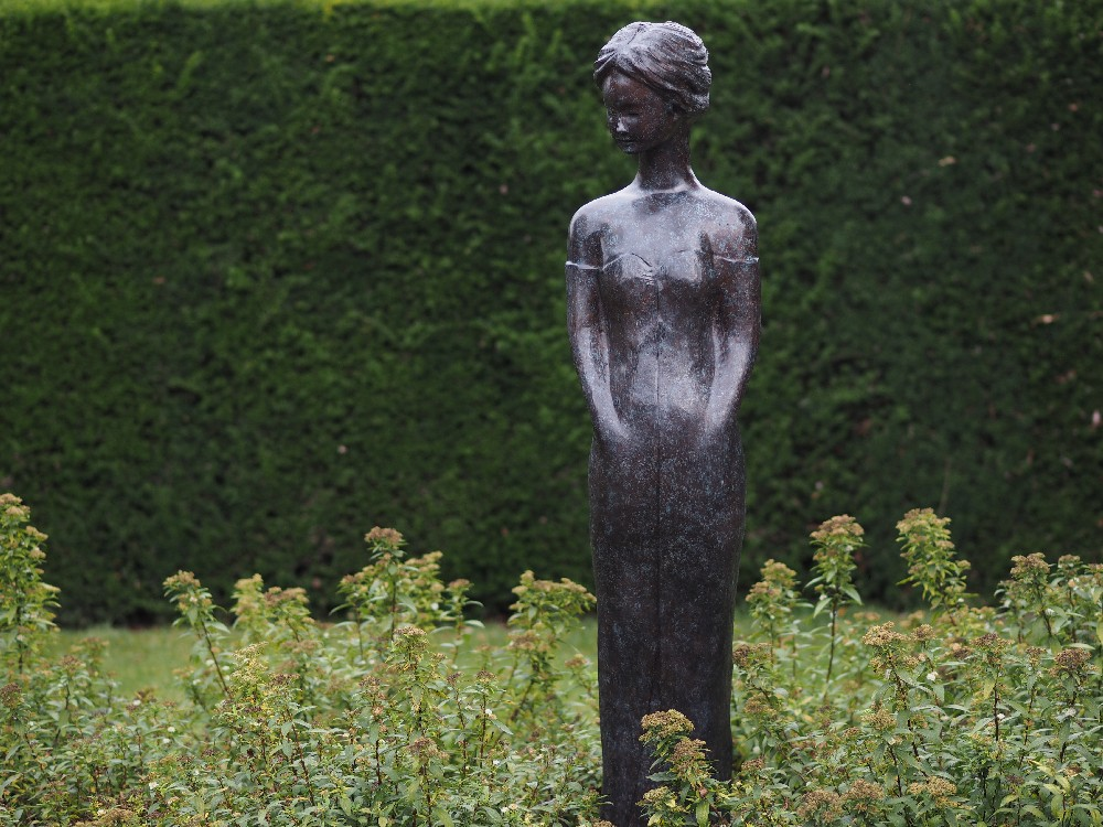 Solid Bronze Rosemary Sculpture 167cm (1) | Avant Garden
