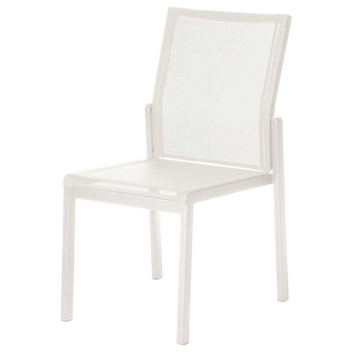 Aura Pearl Dining Chair with Arctic White Frame by Barlow Tyrie 1AU.02.505 (1) | Avant Garden