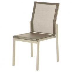 Aura Titanium Dining Chair Champagne Frame by Barlow Tyrie (1) | Avant Garden