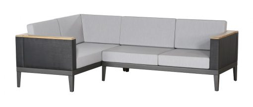 Aura Five Seater Modular Deep Seating Sofa Charcoal Graphite Frame by Barlow Tyrie (1) | Avant Garden