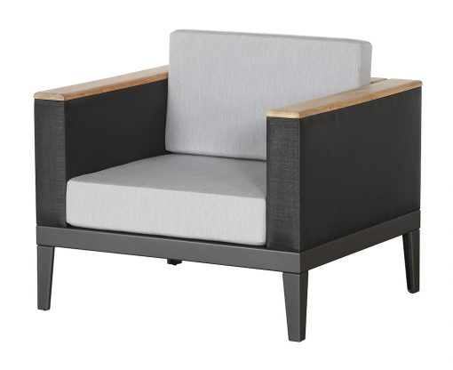 Aura Armchair Deep Seating Lounge Charcoal Graphite Frame by Barlow Tyrie (1) | Avant Garden